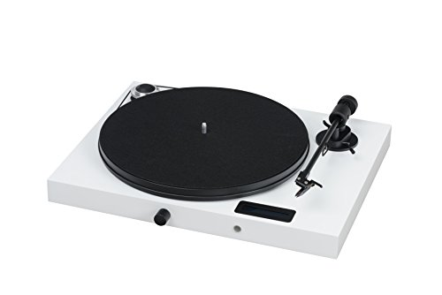 Pro-Ject All-in-One Turntable, White/High Gloss (Jukebox E (OM5e) - White)