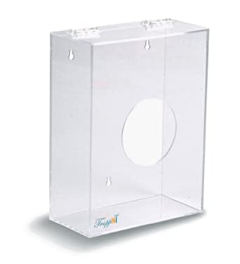"TrippNT 50043 Clear Acrylic Hairnet Dispenser, Small, 11"" W x 8.5"" H x 4"" D"