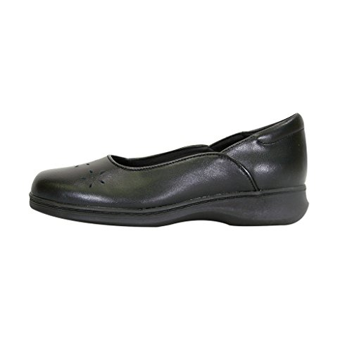 Cut 24 Width Floral Wide Comfort Classic Flat Skimmer Hour Heather Women Design Casual Leather with Black Dress rFwx6rXq