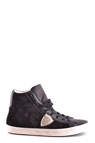 Philippe Model Women's MCBI238067O Black Suede Hi Top Sneakers Z7wWZM