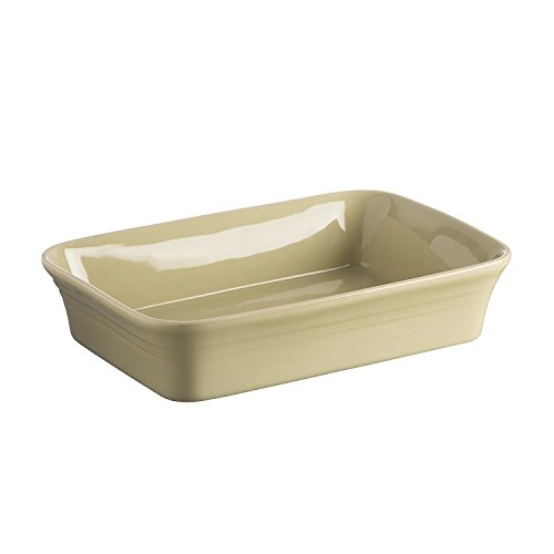 Mason Cash Classic Kitchen Stoneware Rectangular Baker Dish, 10-1/2-Inches by 7-Inches by 2-1/2-Inches, Green