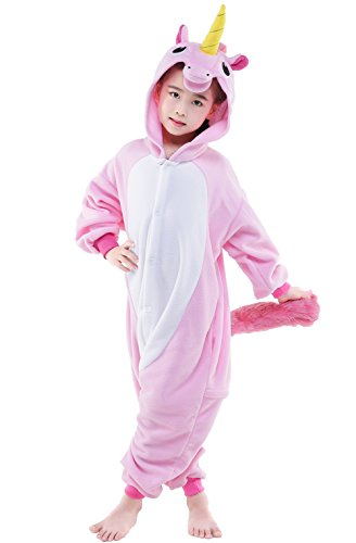 [Halloween Unisex Unicorn Fleece Pajamas Parent-Child Cosplay Costume (10-height 55-58