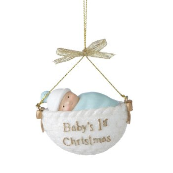 Midwest-CBK \Baby's First Christmas\ Basket Ornament (455487)