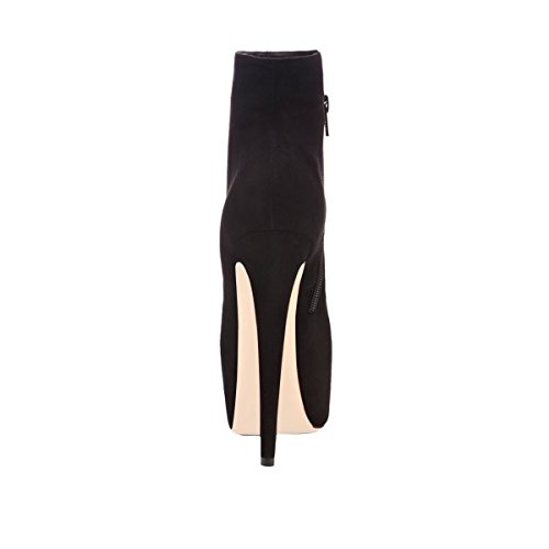 Heel Party Platform UMEXI High Boots Side Booties Pumps Zipper Black Women Ankle Stiletto vggwx1a