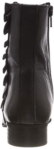 Black Boot Leather Frills B Black FEMME SELECTED Femme Slfalexia Noir Bottines TIqxH7v7