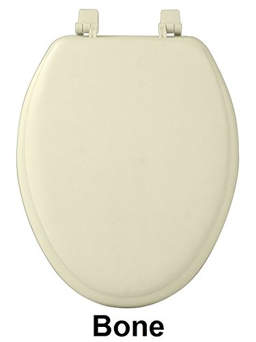 Park Avenue Collection Fantasia 19 Inch Bone Soft Elongated Vinyl Toilet Seat by Ben&Jonah