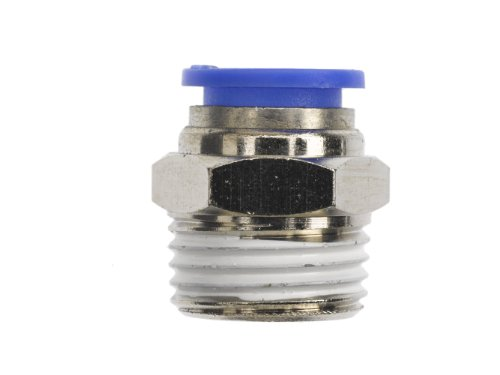 Brennan PCNY2404-02-04 PBT Push-to-Connect Tube Fitting, Adapter, 1/8