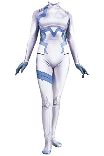 Sub Zero Woman Costume (Zero Two Ichigo Darling in The Franxx Cosplay Costume | Bodysuit Suit Anime Zentai Suit (Large,)