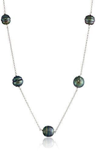 Tin Cup Pearl Tahitian (Tahitian Cultured Pearl Tin Cup Necklace)
