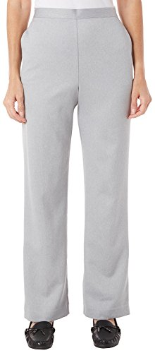 Alfred Dunner Petites' Northern Lights Solid Color Pants 14 Petite ()