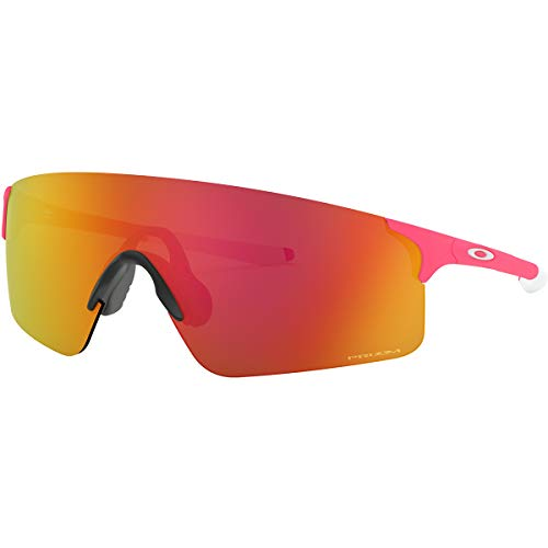 Oakley Adult EVZero Blades Asian Fit Sunglasses,OS,Matte Neon Pink/Prizm Ruby (Oakley Asian Fit)