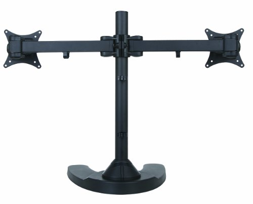 Halter Mount Freestanding Dual/Two LCD Monitor Desk Stand ...
