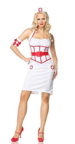 83488 Womens Large On Call Nurse Pin Up Dress Leg Avenue ()