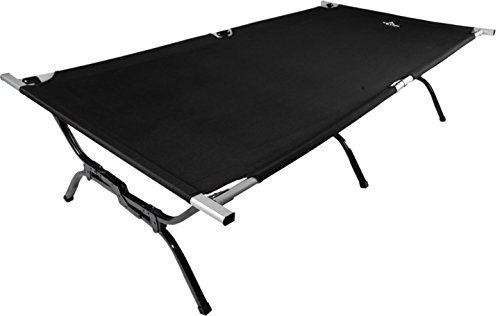 TETON Sports Outfitter XXL Camping Cot with Patented Pivot Arm; Camping Cots for Adults; Folding Cot Bed; Easy Set Up; Storage Bag Included, Black - 120A (Renewed)