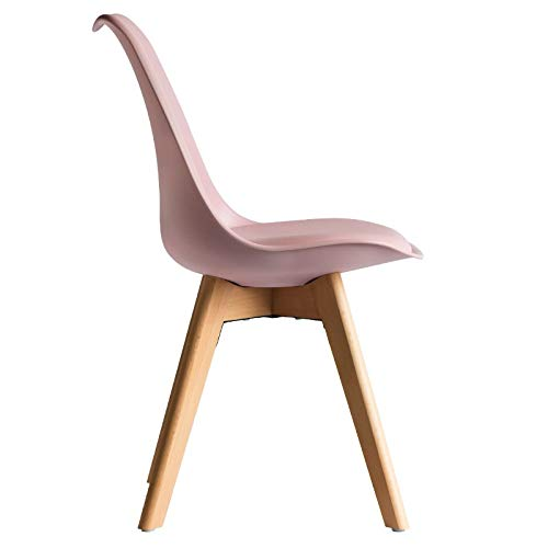 RegalosMiguel Chaise de style scandinave inspir/ée du fauteuil Eames DSW/Mona Couleur au choix rose