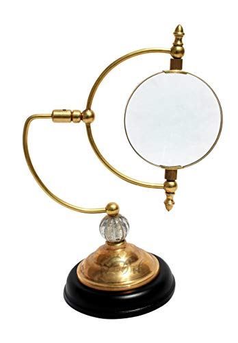 Antique Reproduction Desks - MAH Desktop Reproduction Antique Style Magnifier Reading Magnifying Glass Magnifier for Reading Book Xmas Gallery Gifts Steam Punk Traditional Brass Magnifying Glass. C-3017