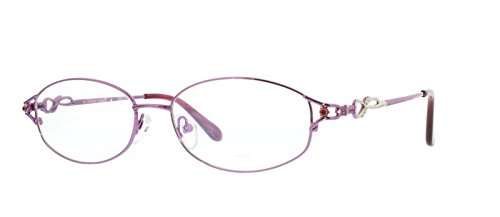 EyeBuyExpress Bifocal Prescription Glasses Mens Womens Violet Elegant Oval Full - Frames Eyeglass Custom