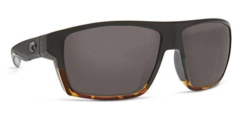 Costa Del Mar Bloke Sunglasses, Matte Black Shiny Tortoise Gray 580g, - Bloke Del Mar Costa