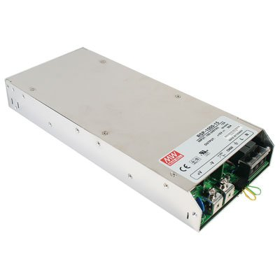 Mean Well RSP-1000-27 Enclosed Switching AC-to-DC Power Supply, Single Output, 27V, 0-37.0A, 999W, 1.6'' H x 5.0'' W x 11.6'' L