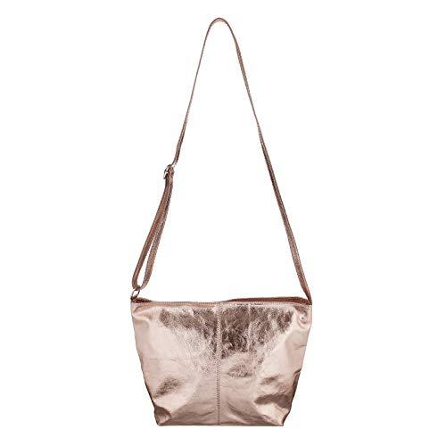 Beautiful metallic Only al Blanco Blumen Rosa Bolso para OBC Weiß Couture Hombro BxHxT cm Mujer 36x24x14 Z5dwS4q