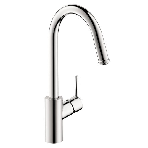 hansgrohe Talis S² Easy Install 1-Handle 16-inch Tall Kitchen Faucet with Pull Down Sprayer Magnetic Docking Spray Head in Chrome, 14872001