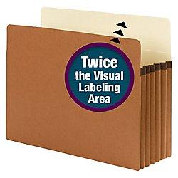 Smead SuperTab File Pocket, Oversized Straight-Cut Tab, 5-1/4