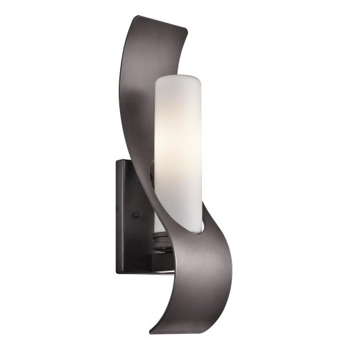 Kichler Lighting Zolder Collection 1-light Architectural Bronze Indoor/Outdoor Wall (Lis Sconce Vase)