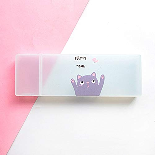 - Cuiron Translucent Frosted Pencil Pen Case, Storage Case Stationery Container Pen Case by Cuiron (Color : T6)