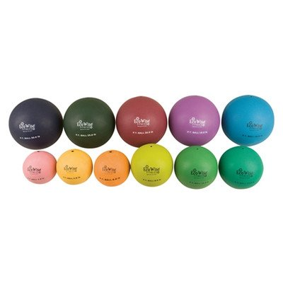 Aeromat Ecowise Non Bouncing Physical Therapy Ball, 4-Pound, Sunflower