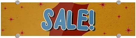 Sale Nostalgia Burst Premium Brushed Aluminum Sign CGSignLab 5-Pack 24x6