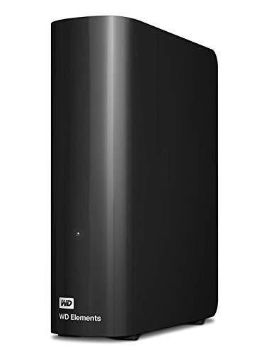 WD Elements Desktop - Disco duro externo de sobremesa de 12 TB, color negro