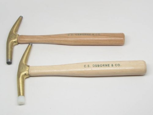 C.S. Osborne #33 #36 Bronze Head Nylon Tip Magnetic Hammer Upholstery by UJ Ramelson Co