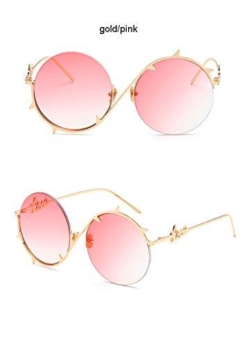 hombre protectoras para gafas de doradas hip Aprigy Pink Gafas Brown Pinhole plateadas oculares Steampunk gafas Gold sol Cool hop de sol Fashion Gold xwq8vTx4