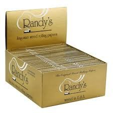 Randys King Size Wired Rolling Tobacco Papers - 25 Packs (24 Papers per Pack)