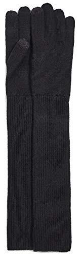 (UGG Women's Luxe Knit Long Gloves Black One Size)