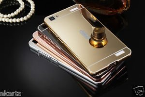 the best attitude 3b26f 3eed7 Metal-Bumper-Acrylic-Mirror-Back-Case-Cover-For-Vivo V1: Amazon.in ...