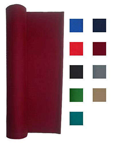 Performance Grade Pool Table Felt - Billiard Cloth - for an 8 Foot Table Burgundy