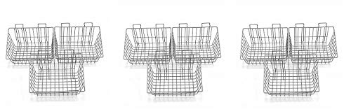 Proslat 13022 15-Inch x 11-Inch Ventilated Wire Basket Designed PVC Slatwall, 3-Pack (3-(Pack))