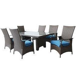 Dining Sets Wicker Medium (Ideal for 6 Seats) Lanai 7 Piece Dining S