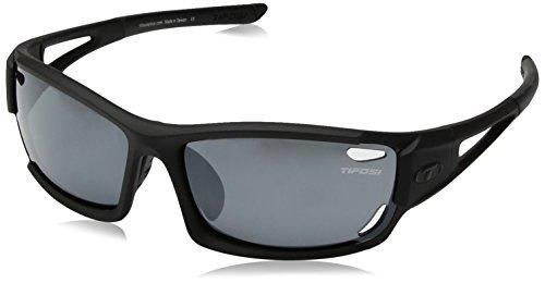 (Tifosi Asian Dolomite 2.0 Wrap Sunglasses, Matte Black, 59 mm)