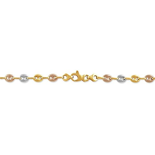 HISTOIRE D'OR - Collier Or - Femme - Or 3 couleurs 375/1000