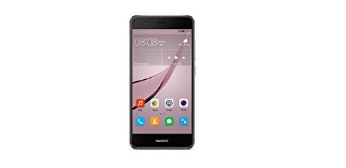 Huawei 51090UAW nova Smartphone (12,7 cm (5 Zoll), 32GB, Dual-SIM, 12 Megapixel Kamera, Android) titanium grau