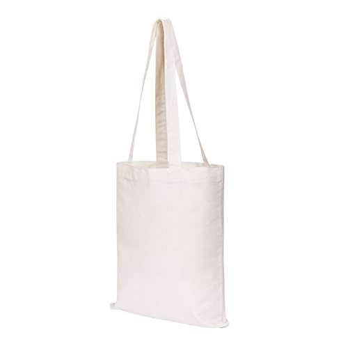 Canvas Craft Tote Bags (25 Pack) for Crafts, Gift Bags, Wedding Favors Bags, Welcome Bags, Goody Bags, Lunch Bags and More! (14x12 Inches)
