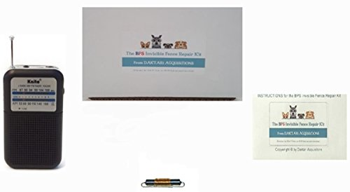 Invisible Dog Fence Wire Break Repair Kit Bundle: Radioshack 100 uH RF Choke, AM/FM Radio, Pocket Instructions