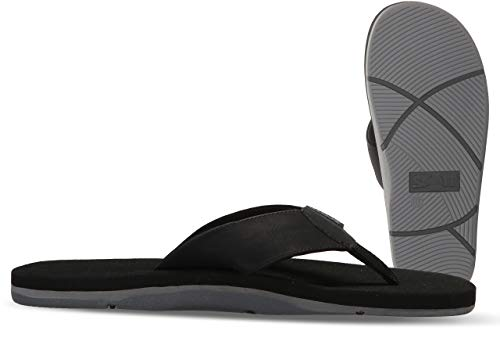 Scott Hawaii Size 10 Kapena Elite Sandals | Black Vegan Leather Sandal | Cushioned Footbed | Secure Custom Grooves Prevent Slipping