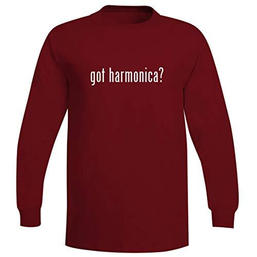 - got Harmonica? - A Soft & Comfortable Men's Long Sleeve T-Shirt, Red, X-Large