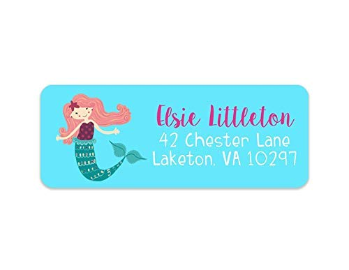 Kids Mermaid Address Labels - Girls Address     - Amazon com