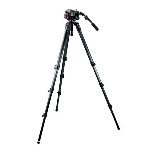 Manfrotto 504HD,536K Video Tripod Kit with 504HD Head and 536 Carbon Fiber Tripod (Black) by Manfrotto
