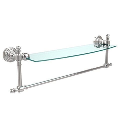 Allied Brass RW-33TB/18-SN 24'' Glass Shelf Satin Brass by Allied Brass