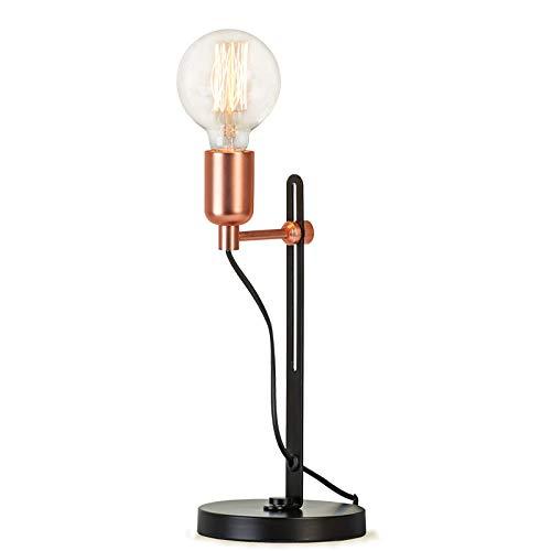 LEDボタンスイッチテーブルランプ、高さ調節可能、北欧スタイルの人格レトロ寝室のベッドサイドランプ B07RKGDF3H